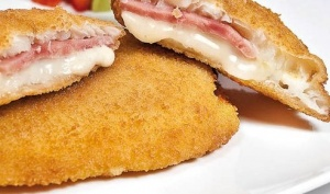 imagen San jacobo de  merluza jamón y queso