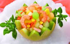 imagen Ensalada de frutas y langostino.