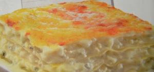 imagen Lasaña 4 quesos